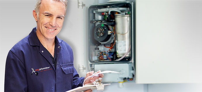 A heating engineer giving maintenance tips