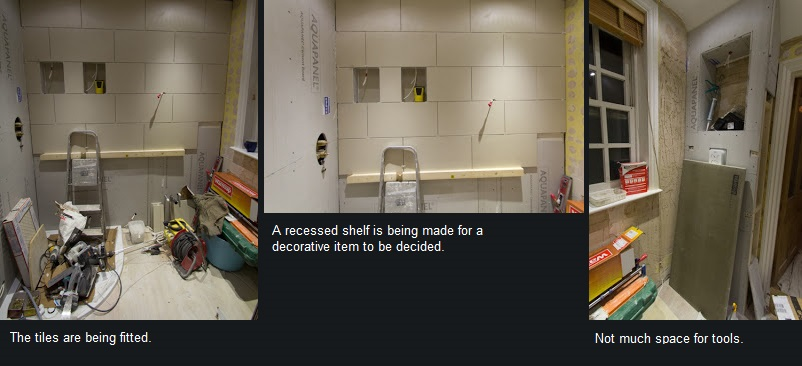 Image showing fitted tiles and recessed shelves