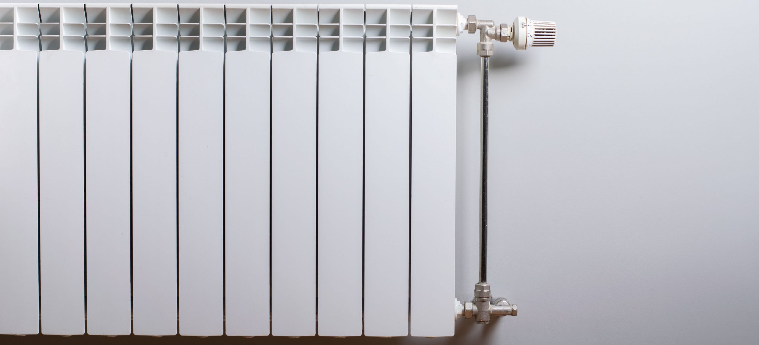 A photo of a cold radiator