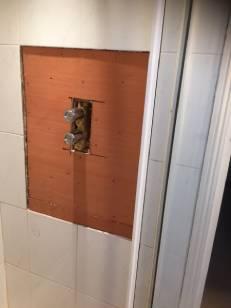 Preparing shower for tiling