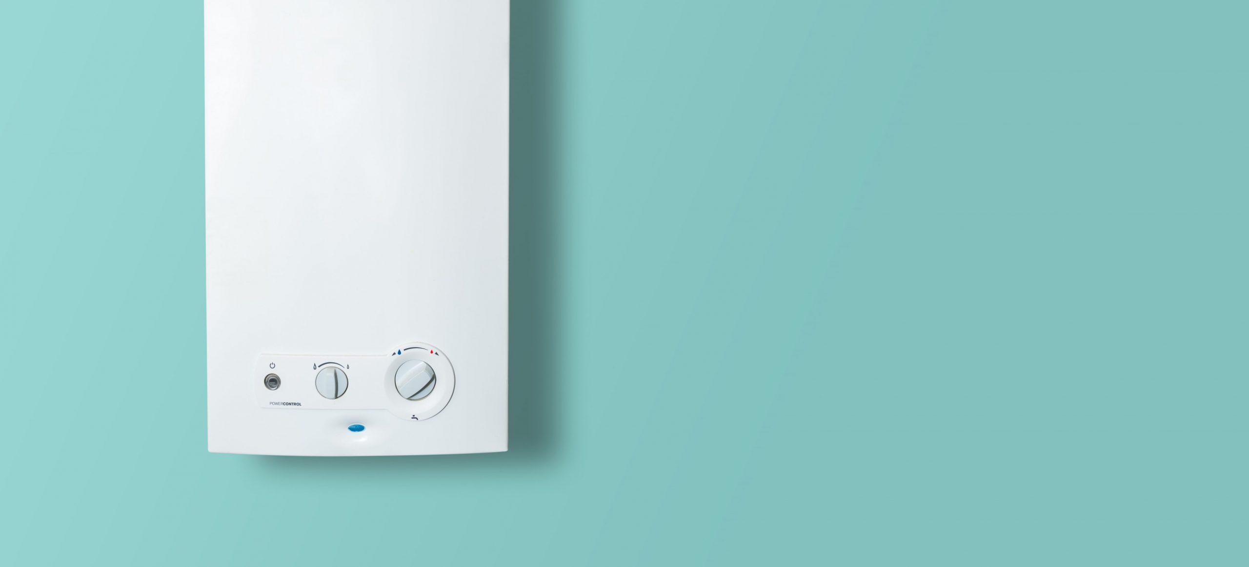 A photo of a combi boiler