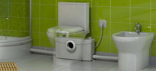 A photo of a macerator Saniflo toilet