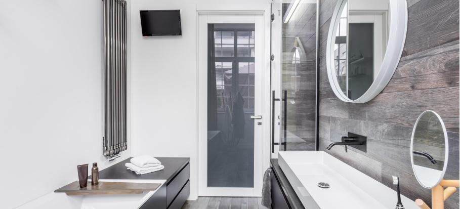 A modern small bathroom